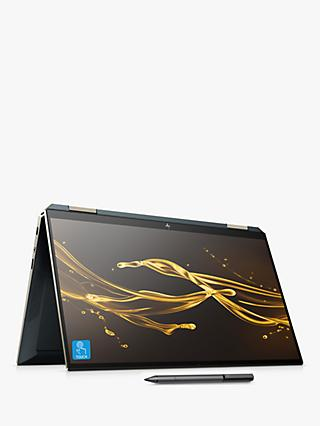 "HP Spectre x360 13-aw0114na Convertible Laptop with HP Tilt Pen Stylus, Intel Core i5, 8GB RAM, 256GB SSD, 13.3"" Full HD, Poseidon Blue"