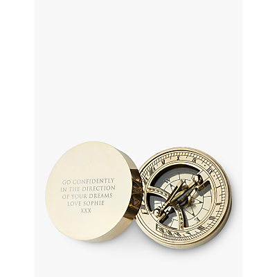 Image of Treat Republic Personalised Brass Sundial & Compass