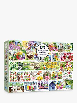 Gibson Wheelbarrows & Wellies Jigsaw Puzzle, 1000 Pieces