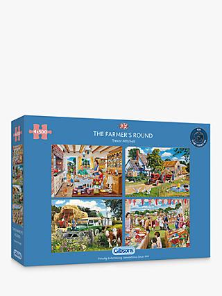 Gibson Farmer's Round Jigsaw Puzzle, 2000 Pieces