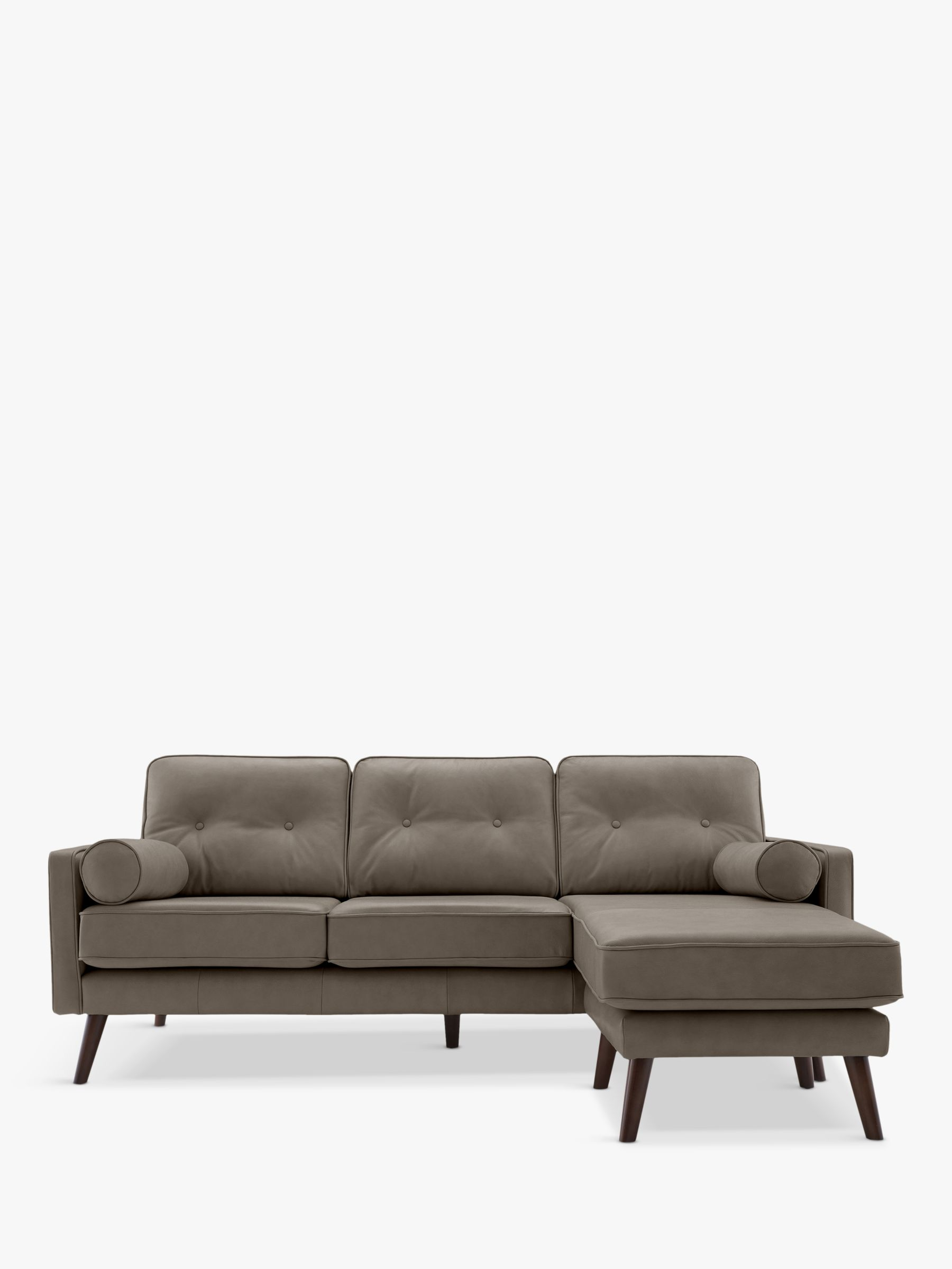 G Plan Vintage G Plan Vintage The Sixty Five Large 3 Seater Chaise End Leather Sofa