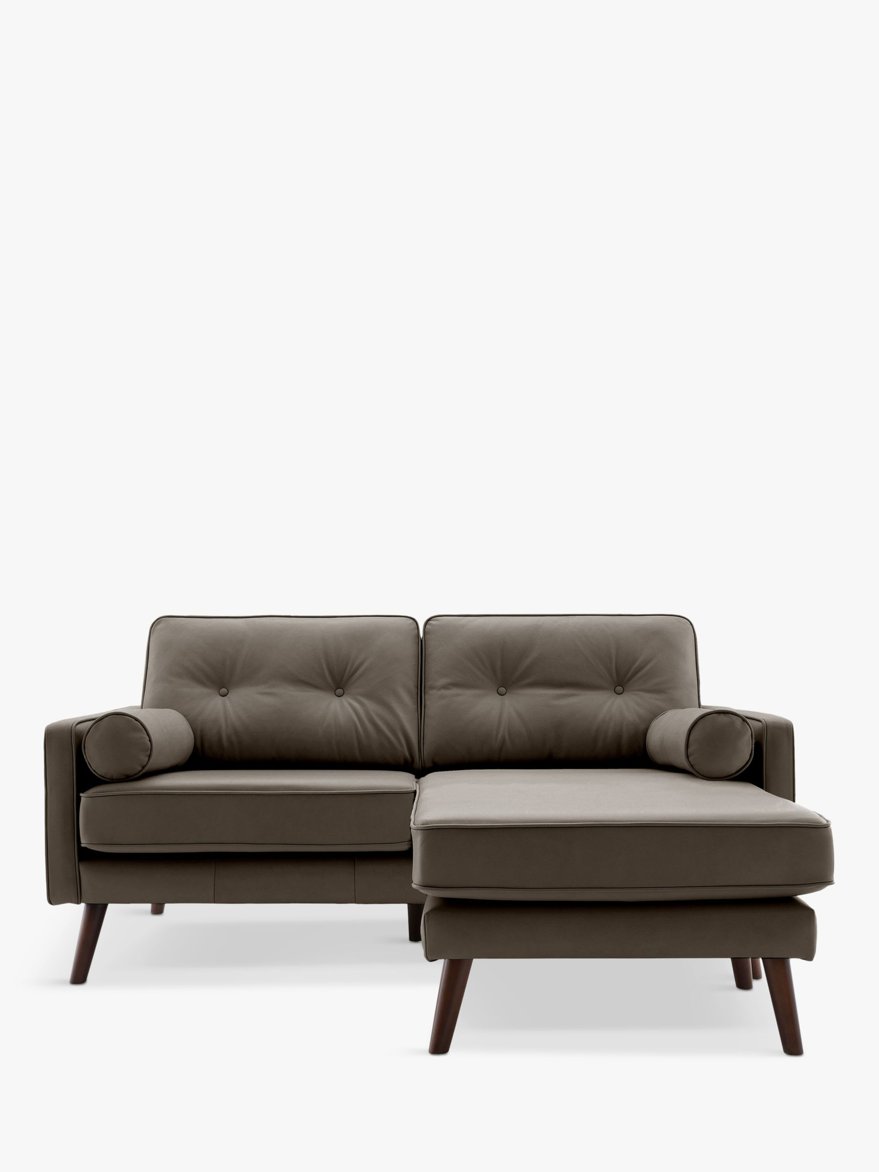 G Plan Vintage G Plan Vintage The Sixty Five Medium 2 Seater Chaise End Leather Sofa
