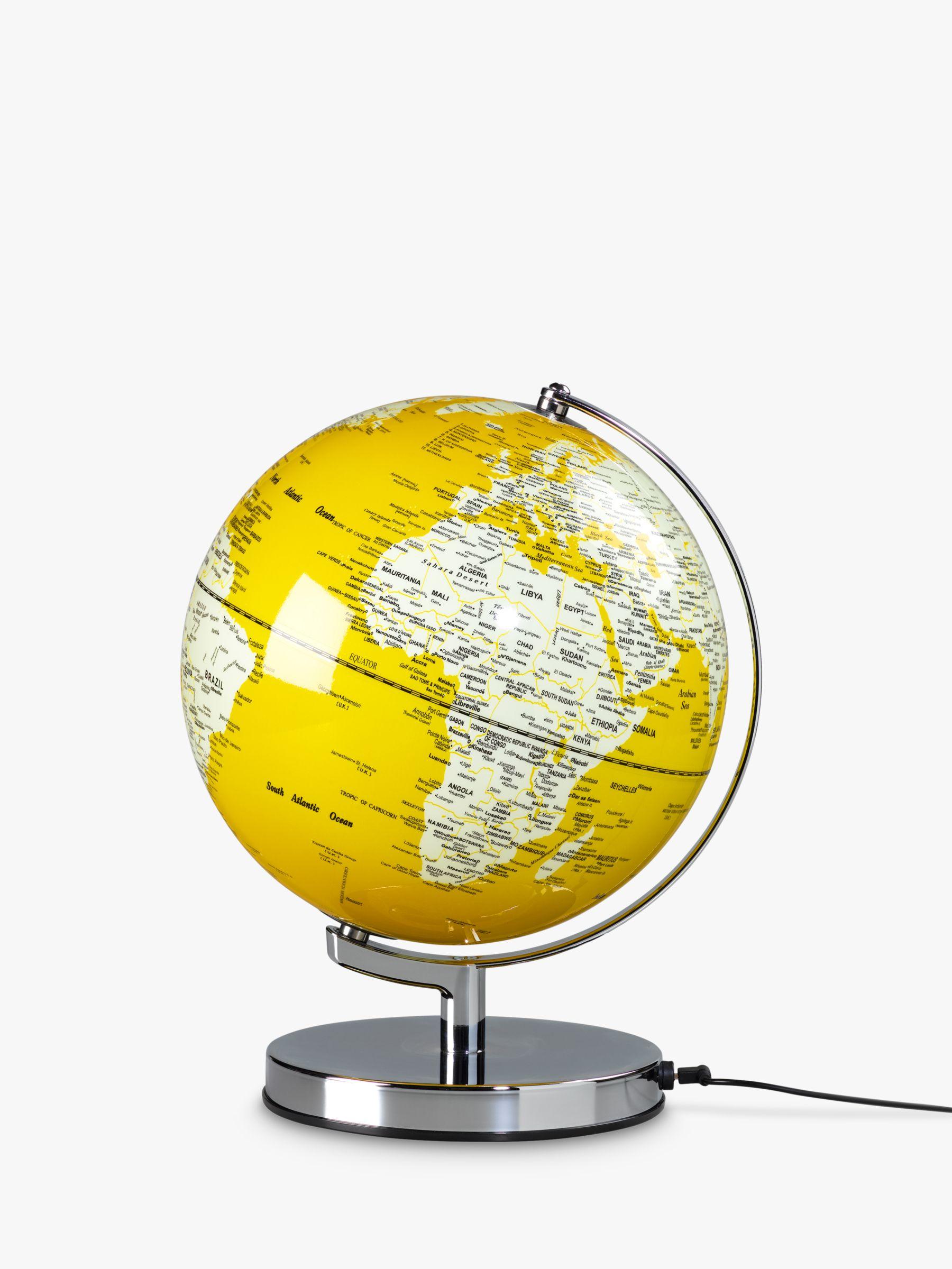 Wild & Wolf Wild & Wolf Mustard Light Up Globe, 25cm