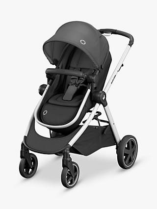 Maxi-Cosi Zelia Pushchair, Essential Black and Maxi-Cosi CabrioFix Car Seat, Essential Graphite bundle
