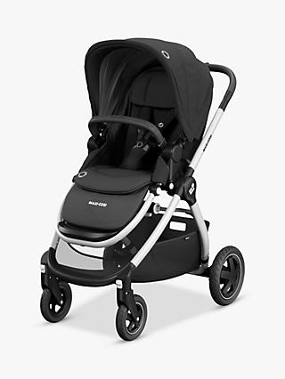 Maxi-Cosi Adorra Pushchair, Essential Black and Maxi-Cosi CabrioFix Car Seat, Essential Graphite bundle