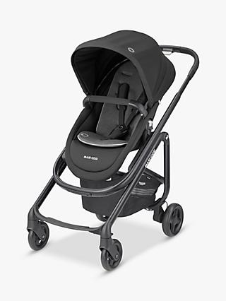 Maxi-Cosi Lila SP Pushchair, Essential Black and Maxi-Cosi CabrioFix Car Seat, Essential Graphite bundle