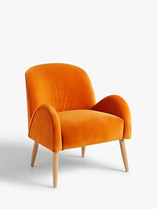 Ellington Range, John Lewis & Partners + Swoon Ellington Armchair, Orange Velvet