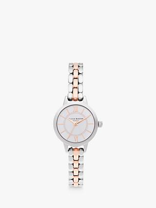 Olivia Burton OB16MC50 Women's Wonderland Bracelet Strap Watch, Silver/Rose Gold