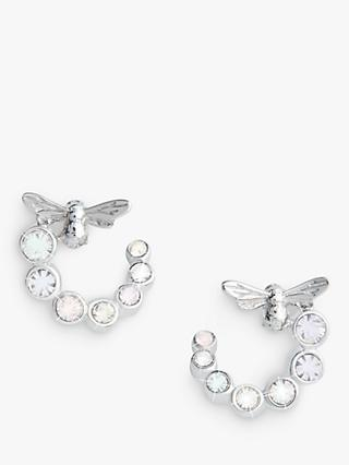 Olivia Burton Bee Hoop Earrings, Silver OBJAME163N