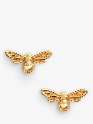 Olivia Burton Textured Bee Stud Earrings, Gold OBJAME23N