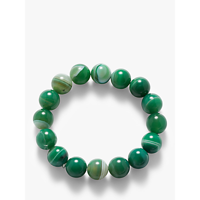 John Lewis & Partners Beaded Agate Stretch Bracelet