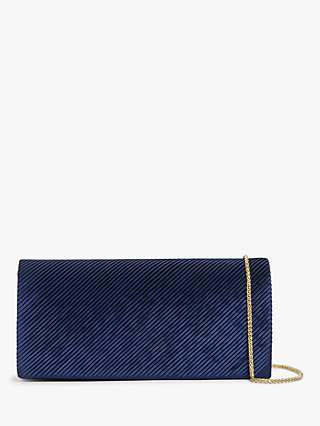John Lewis & Partners East/West Pleated Clutch Bag