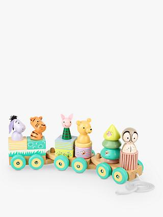Winnie the Pooh Puzzle Train Pull Along Wooden Toy