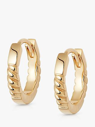 Daisy London Stacked Rope Hoop Earrings, Gold