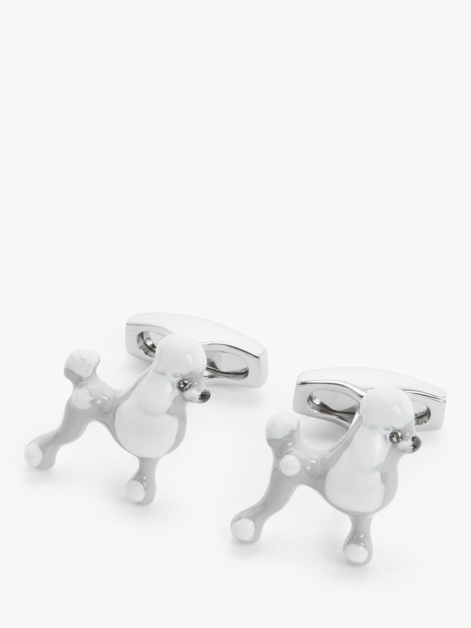 Simon Carter Simon Carter Poodle Cufflinks, Silver
