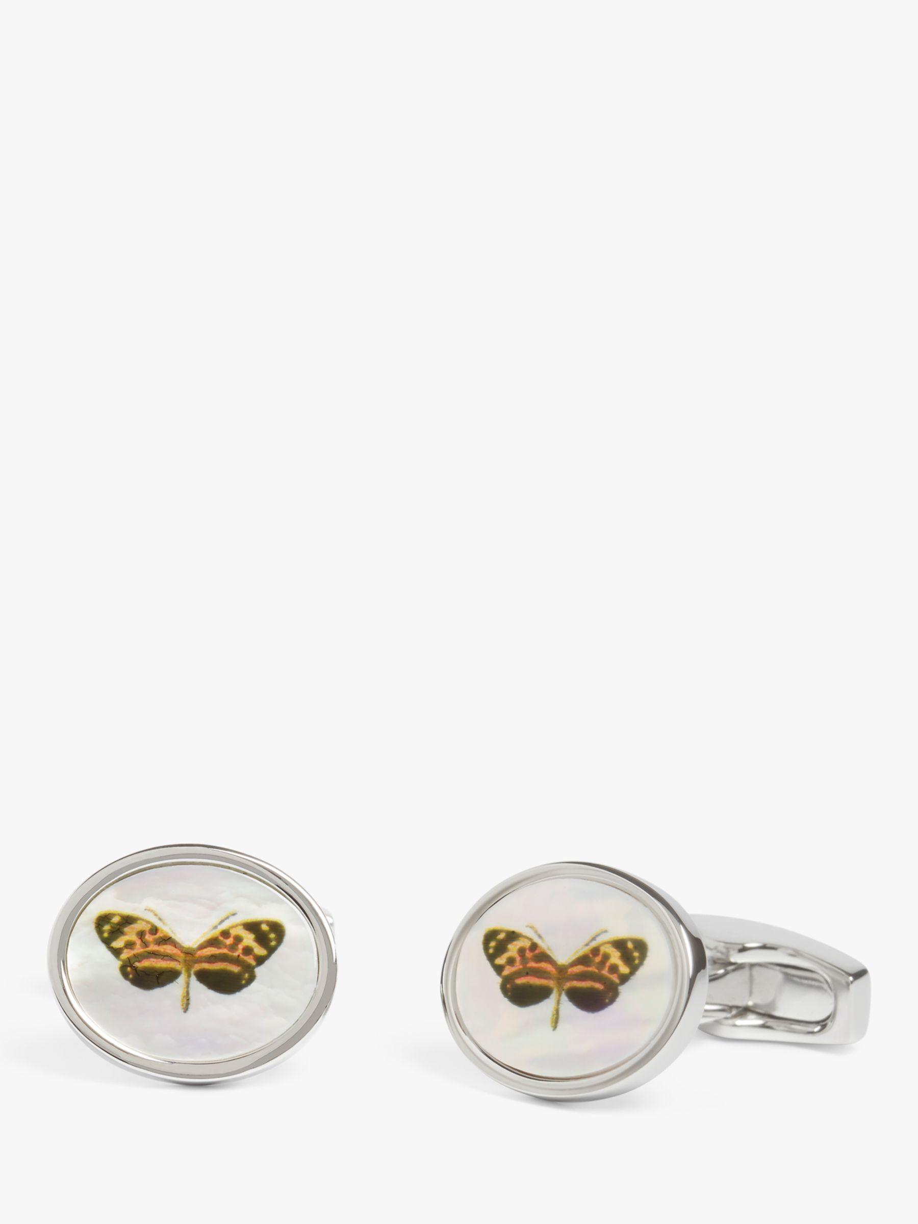 Simon Carter Simon Carter Butterfly Button Cufflinks, Silver