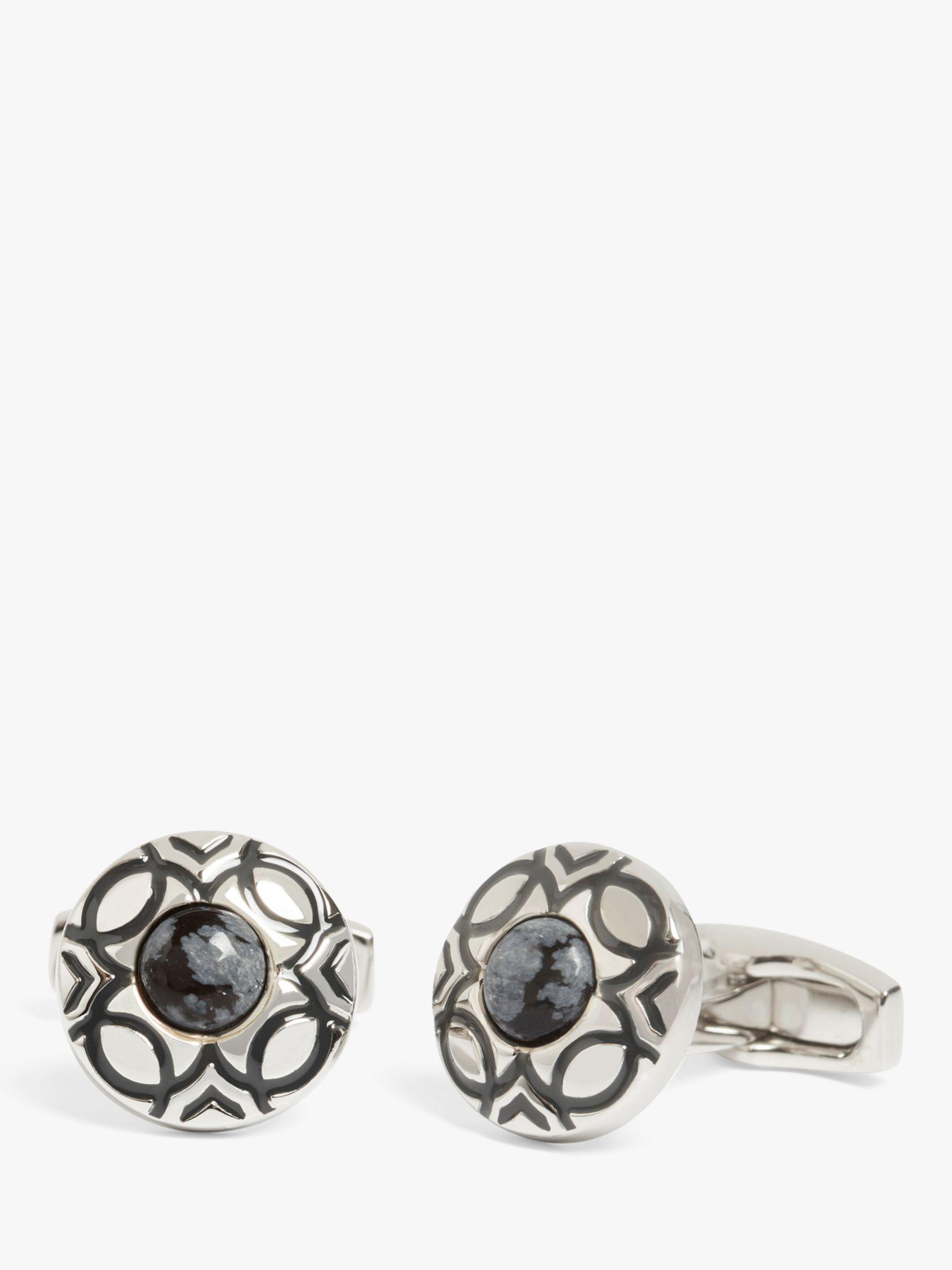 Simon Carter Simon Carter Marakesh Button Cufflinks, Silver