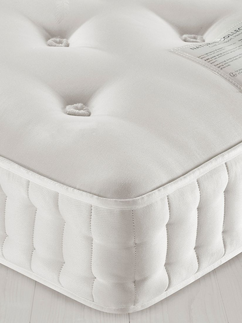 John Lewis & Partners Natural Collection Hemp 2500, Small Double, Firm Tension Pocket Spring Mattress