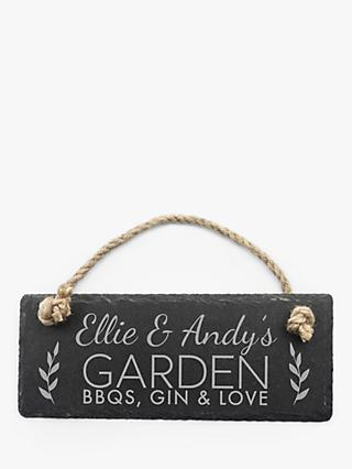 Treat Republic Personalised Slate Hanging Sign