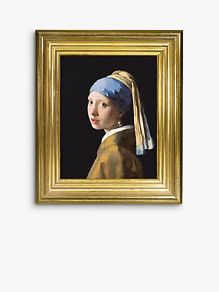 Johannes Vermeer - 'Girl with a Pearl Earring' Framed Canvas, 35 x 30cm, Blue/Multi