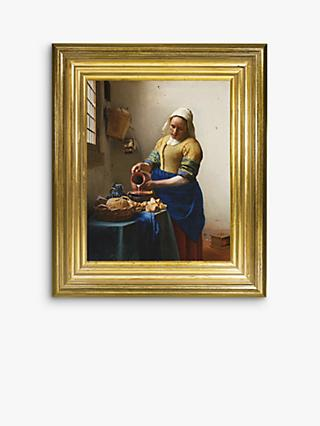 Johannes Vermeer - 'The Milkmaid' Framed Canvas, 35 x 30cm, Yellow/Multi