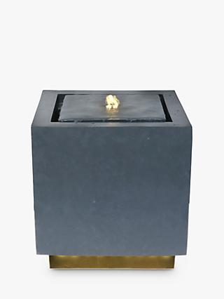 Ivyline Cube LED Light Garden Water Feature, Graphite