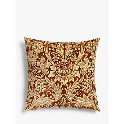 Morris & Co. Sunflower Cushion, Vellum / Saffron