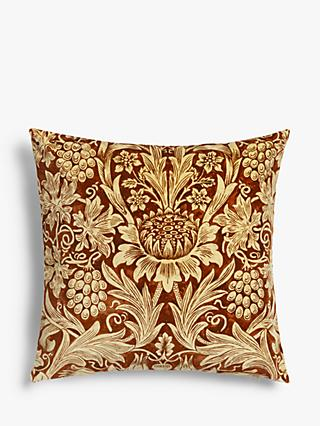 Morris & Co. Sunflower Cushion, Vellum / Saffron
