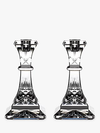 Waterford Lismore Candlesticks, Tall, Set of 2