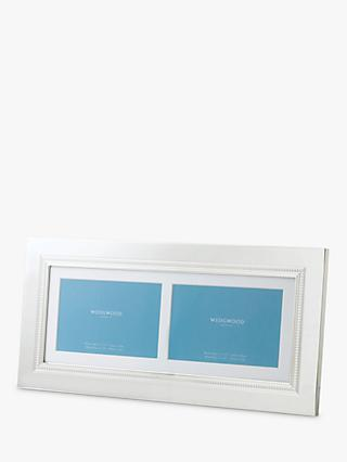 "Wedgwood Simply Wish Double Photo Frame, 4 x 6"" (10 x 15cm)"