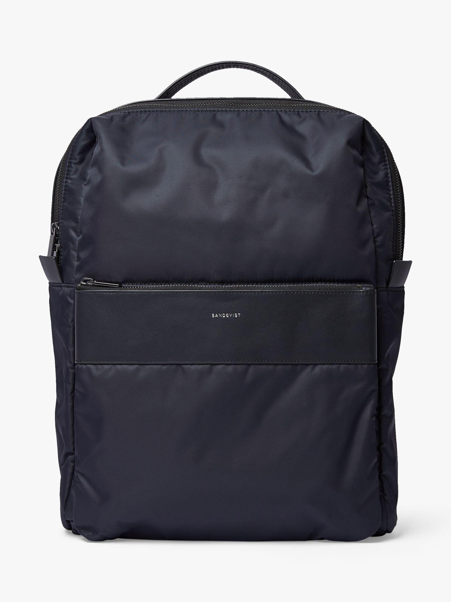 Sandqvist Sandqvist Valdemar Recycled Nylon Backpack, Black