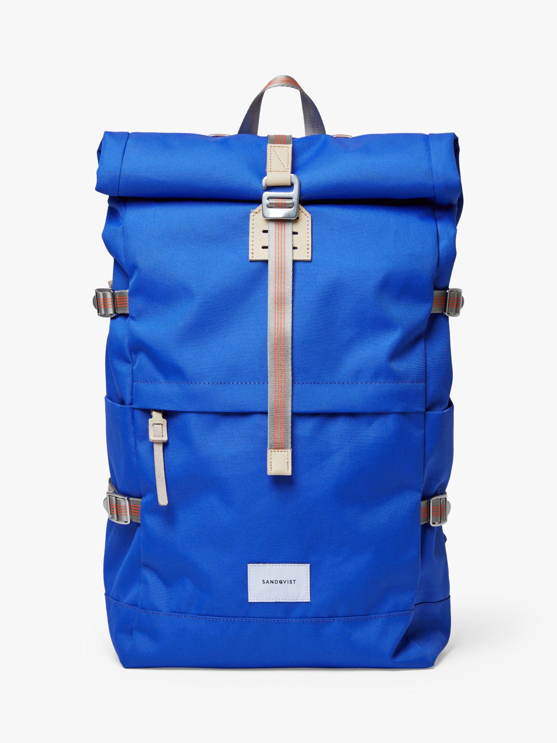Sandqvist Sandqvist Bernt Recycled Rolltop Backpack, Bright Blue