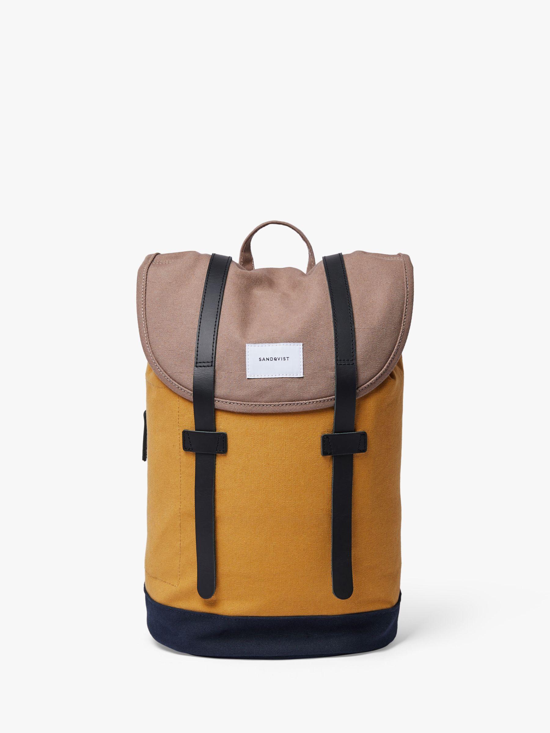 Sandqvist Sandqvist Stig Organic Cotton Backpack, Earth Yellow