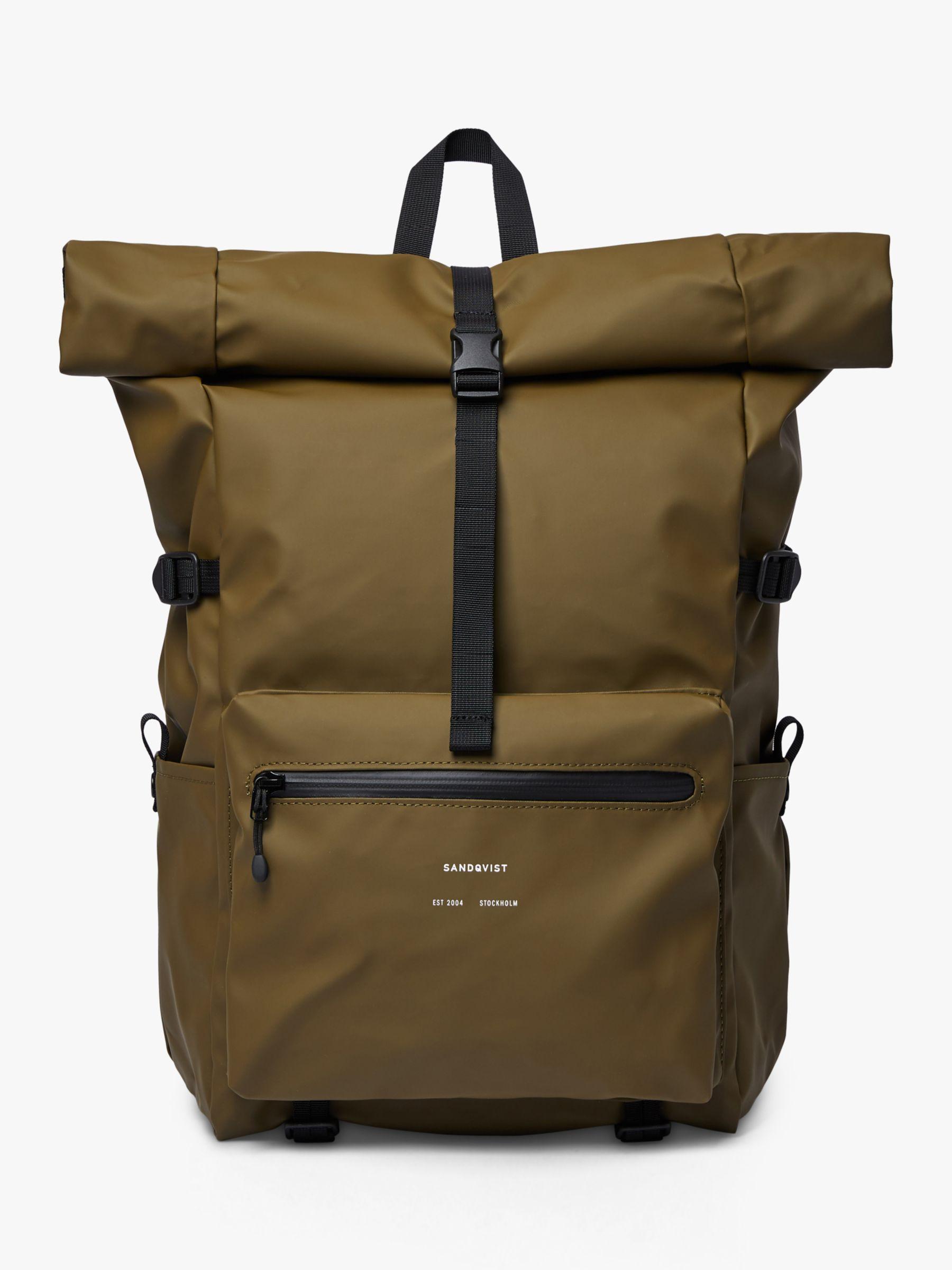 Sandqvist Sandqvist Ruben Recycled Rolltop Backpack, Olive