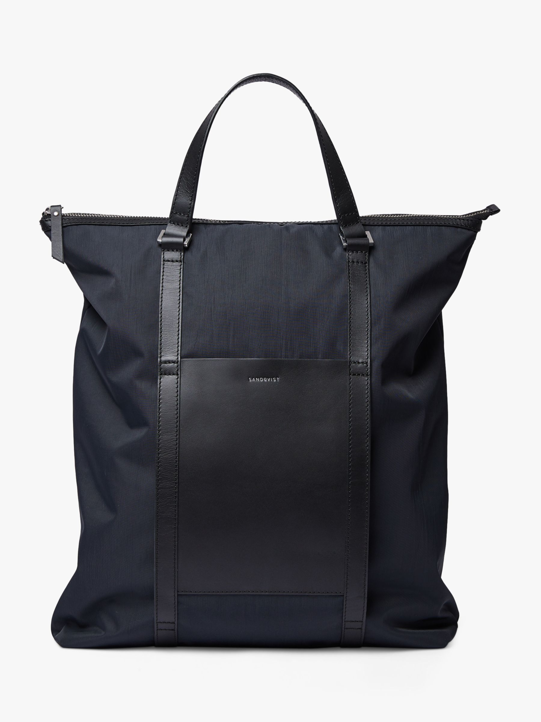 Sandqvist Sandqvist Marta Recycled Nylon Tote Backpack, Black