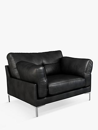 John Lewis & Partners Java II Leather Armchair, Metal Leg