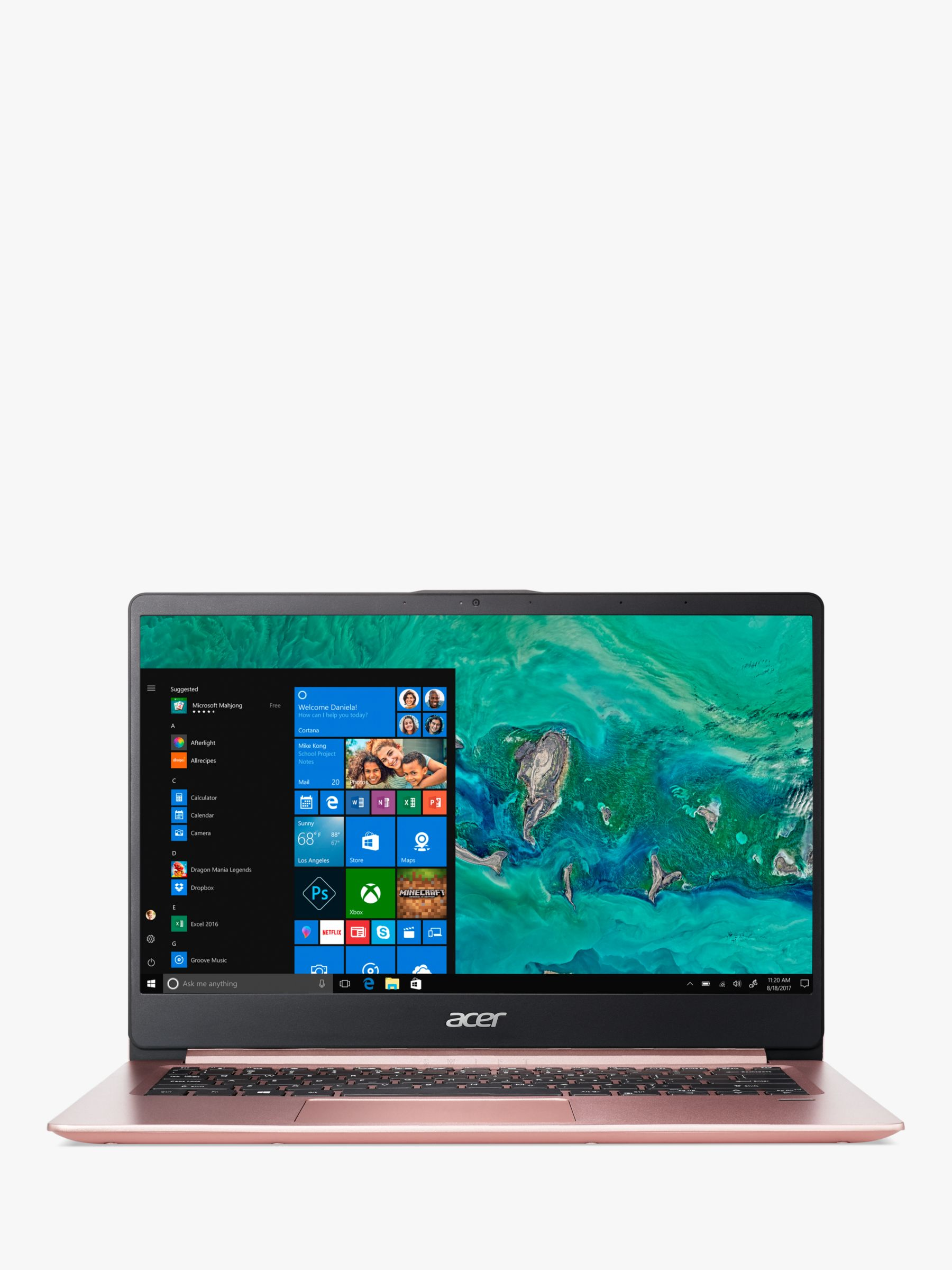 Acer Acer Swift 1 SF114-32 Laptop, Intel Pentium Processor, 4GB RAM, 256GB SSD, 14 Full HD, Sakura Pink