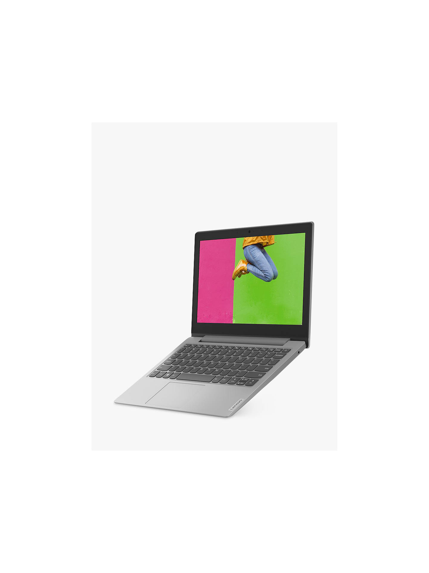 Lenovo Ideapad Slim 1 11ast 05 Laptop Amd A4 Processor 4gb Ram 64gb Emmc 11 6 Display Platinum Grey At John Lewis Partners