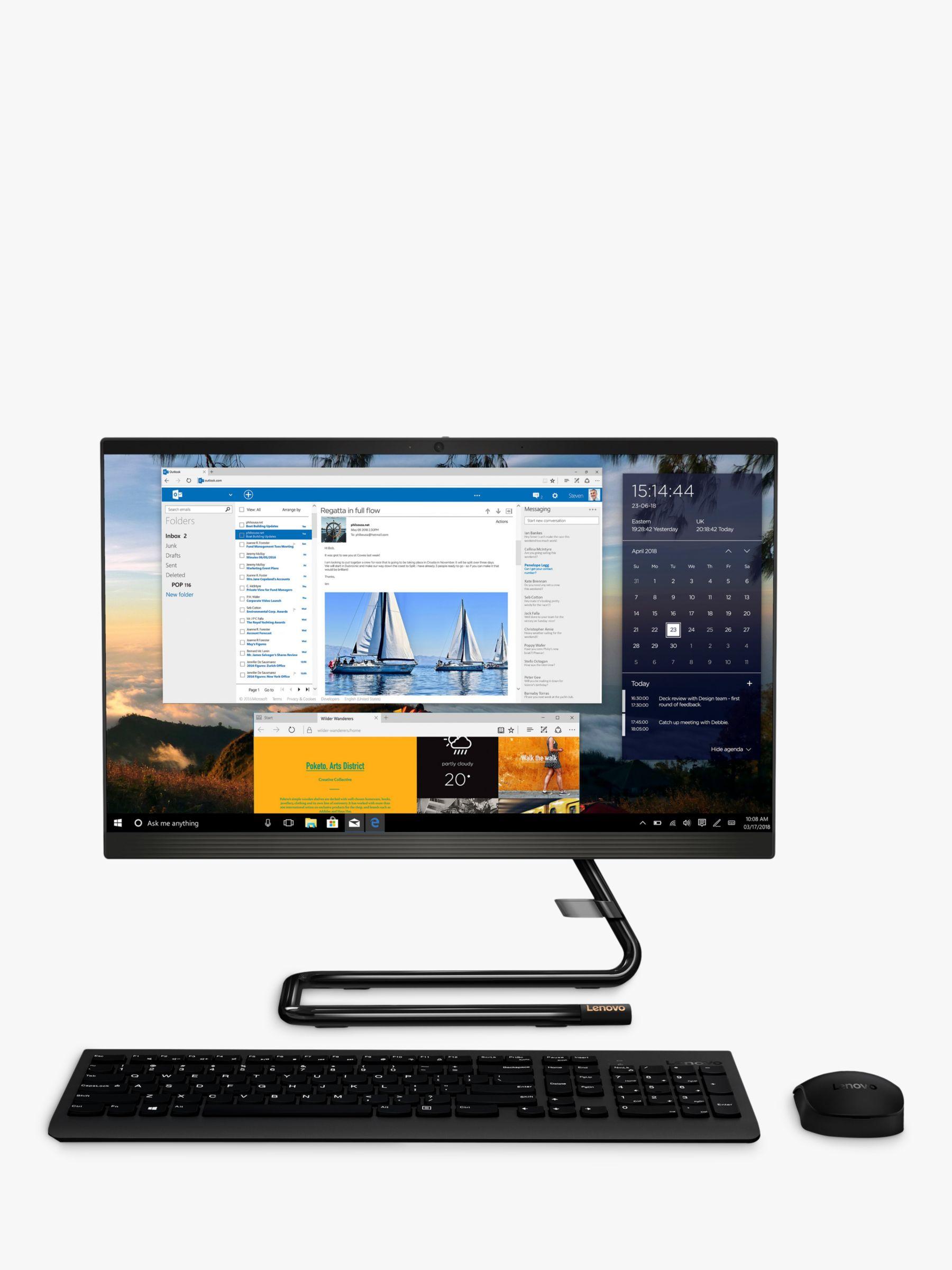 Lenovo Lenovo IdeaCentre A340-22IWL All-in-One Desktop PC, Intel Core i3, 8GB RAM, 128GB HDD, 21.5 Full HD, Business Black