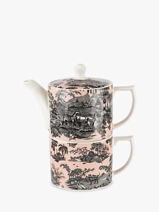 Spode Zoological Gardens Tea-For-One Teapot & Cup Set, 255ml, Pink