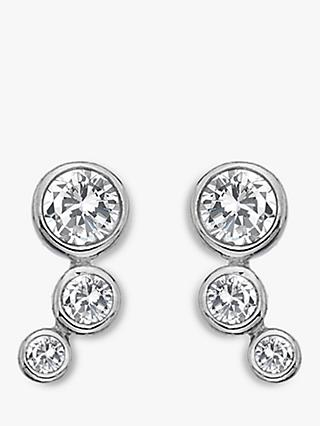 Hot Diamonds Tender Topaz and Diamond Triple Circle Stud Earrings, Silver