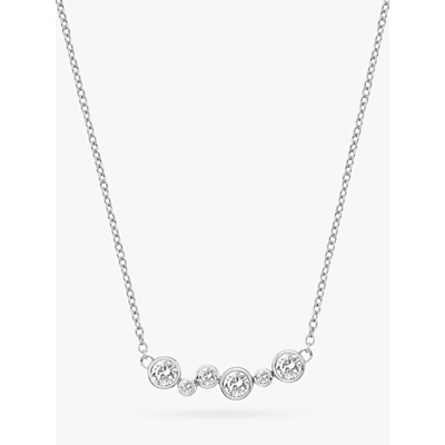 Image of  			   			  			   			  Hot Diamonds Tender Topaz and Diamond Chain Necklace, Silver