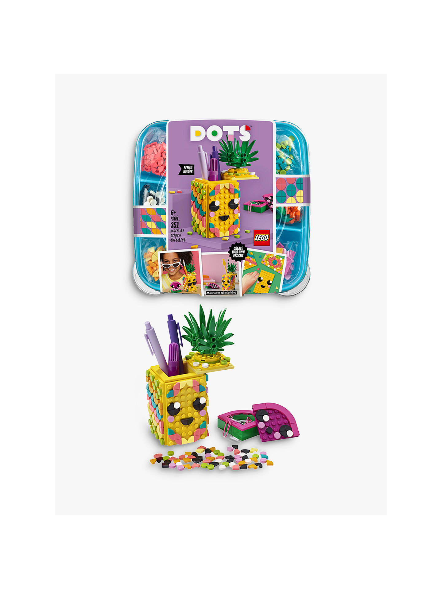 Yellow /& Green Top Pineapple w// Print LEGO Food and Drink Mini Figure