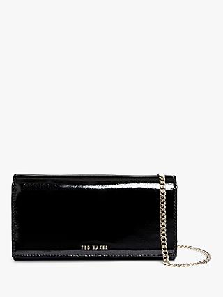 Ted Baker Enrici Patent Leather Cross Body Clutch Bag