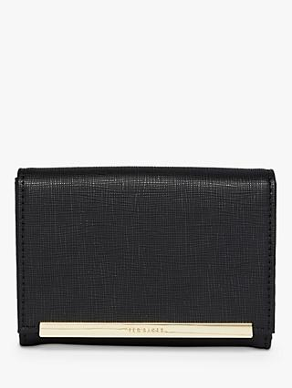 Ted Baker Elizzaa Leather Metallic Bar Mini Purse
