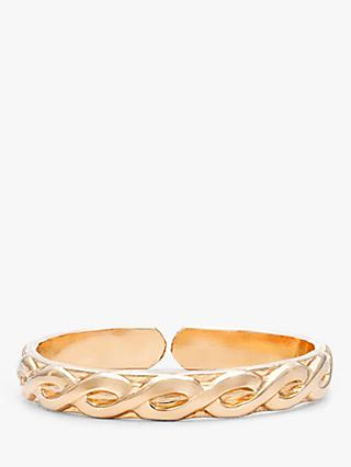 Leah Alexandra Maxime Woven Pattern Stacking Ring, Gold