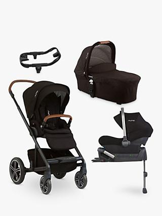 Nuna Mixx 5 Piece Pushchair and Carrycot Bundle, Caviar