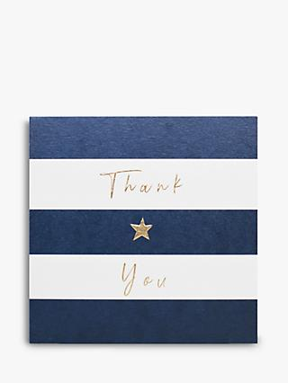 Belly Button Designs Thank You Stripe Note Cards, Pack of 5