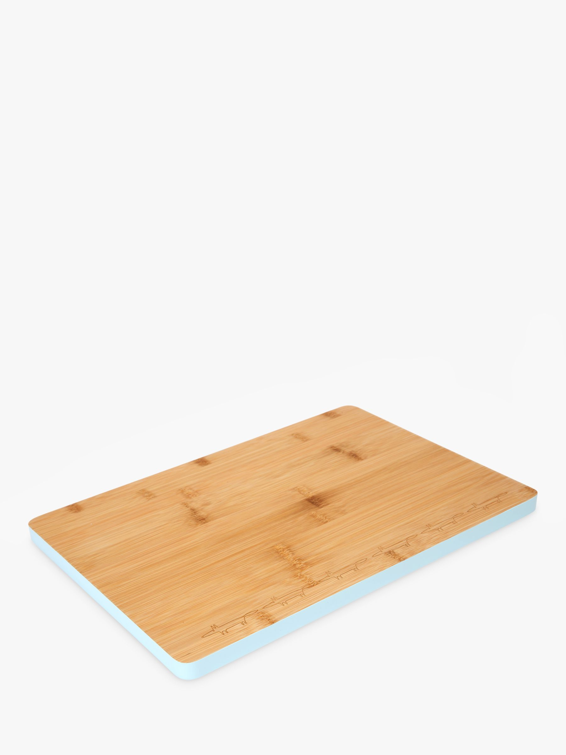 Scion Mr Fox Medium Bamboo Chopping Board, Light Blue