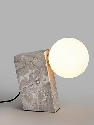 John Lewis & Partners Block Marble Table Lamp, Grey